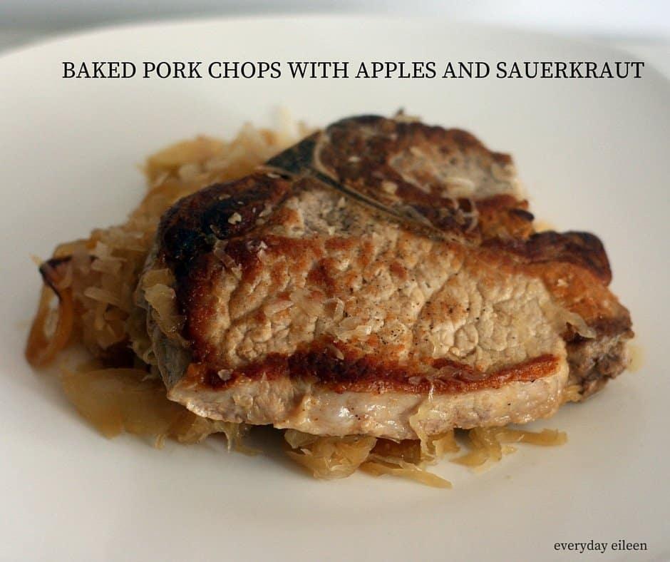 pork chops with apples and sauerkraut