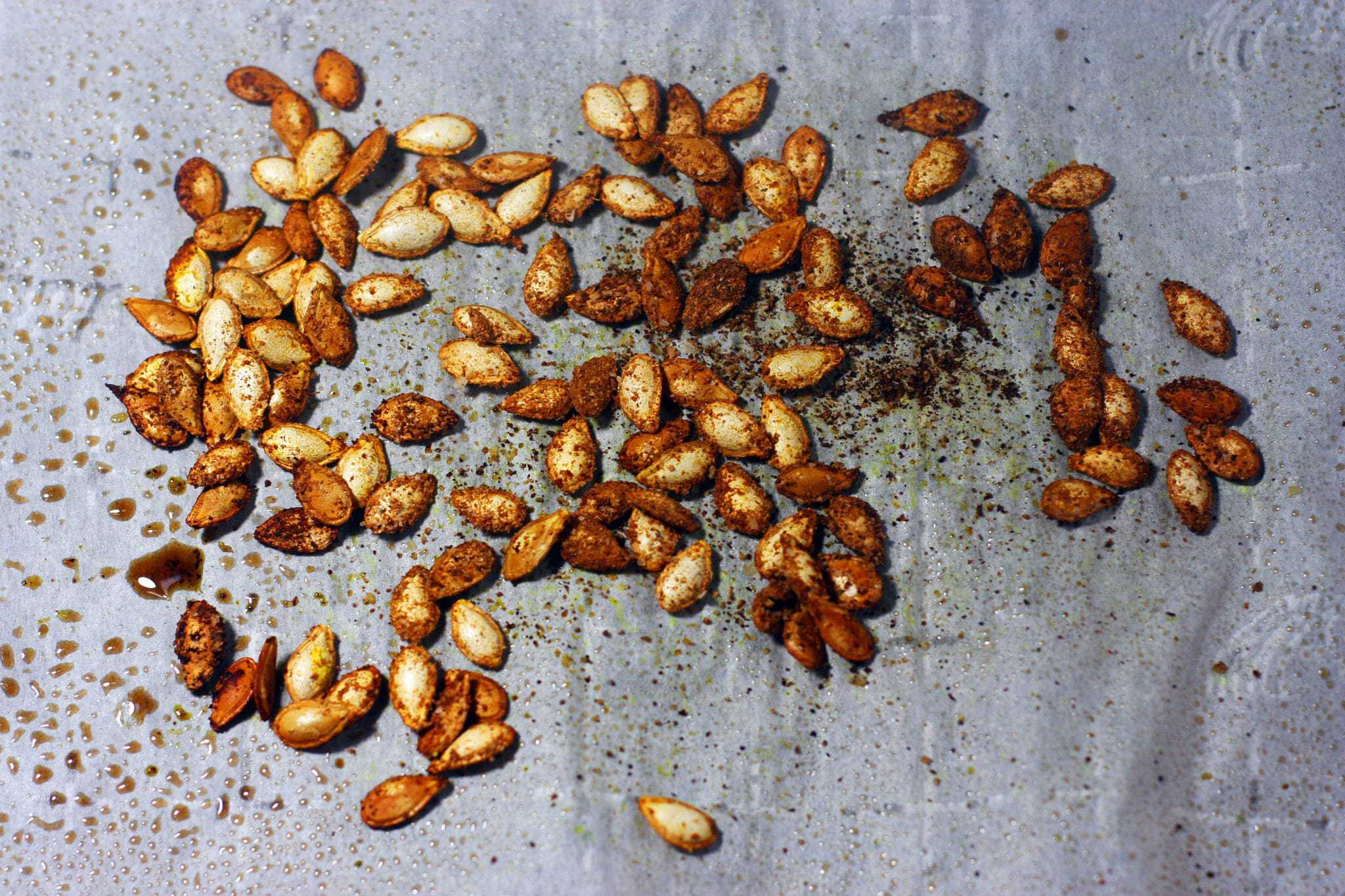 roasted winter squash seasoned seeds