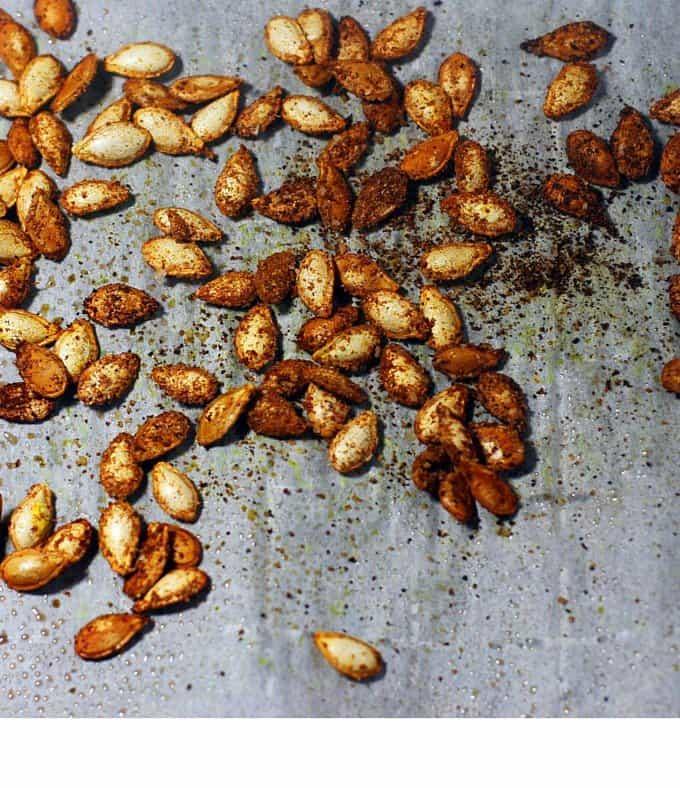 roasted seasoned squash seeds