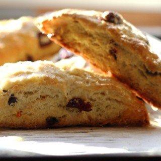 glazed cranberry orange scones