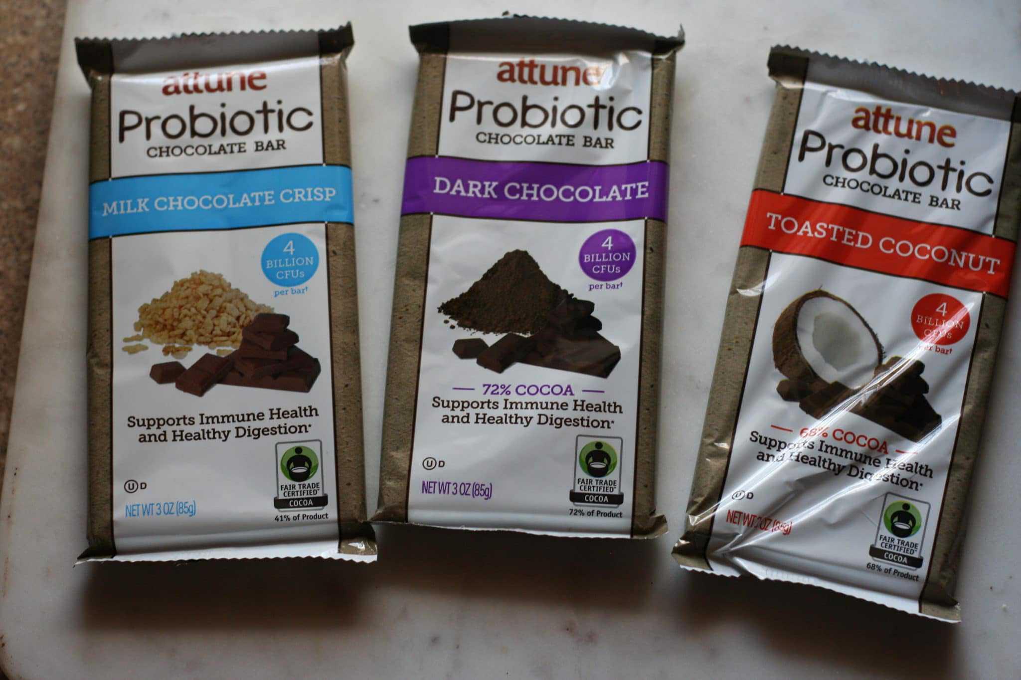attune probiotic chocolate bars