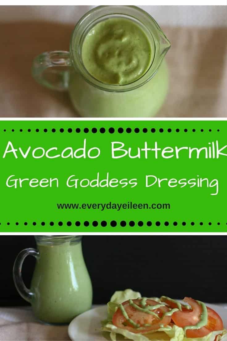 Avocado Buttermilk Green Goddess Dressing