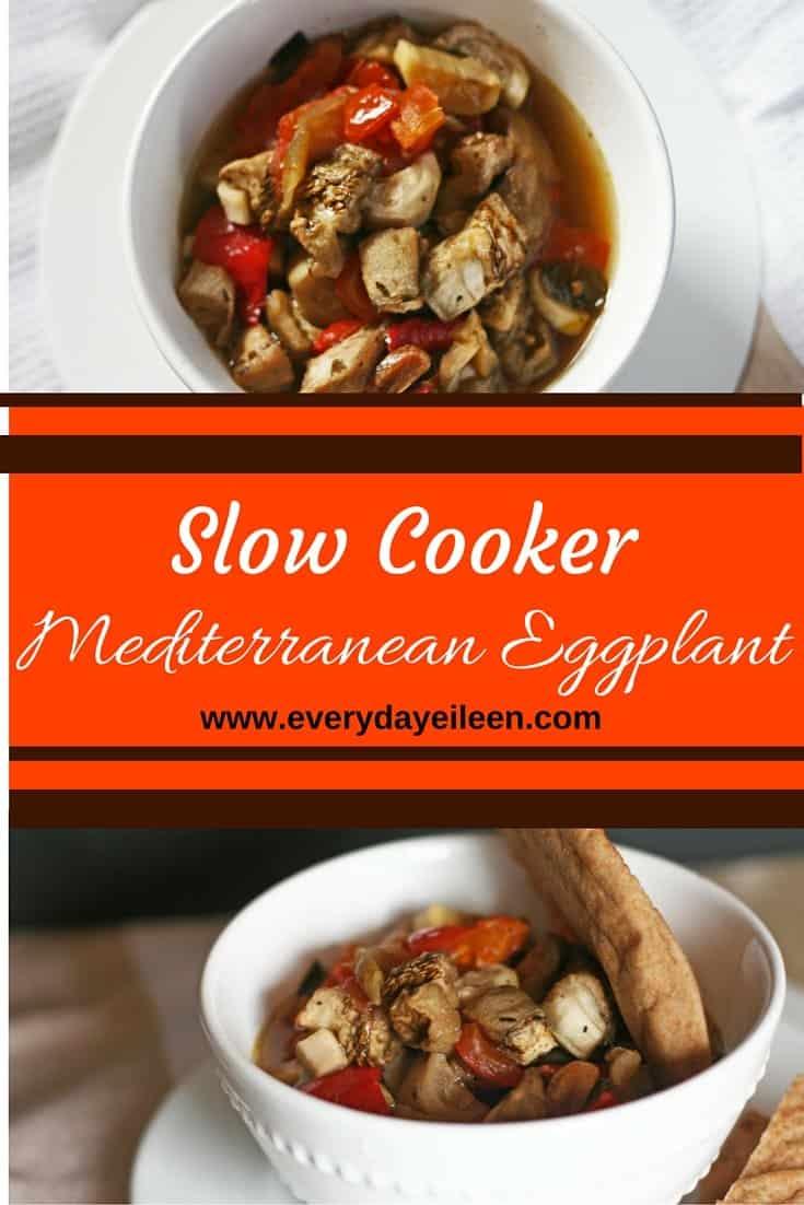 slow cooker Mediterranean eggplant
