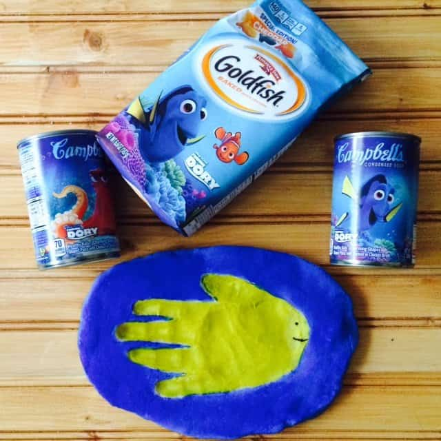 DIY flour dough fish handprint