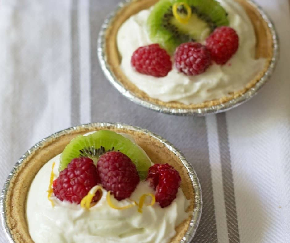 No-Bake Mini Key Lime Yogurt Cheesecakes