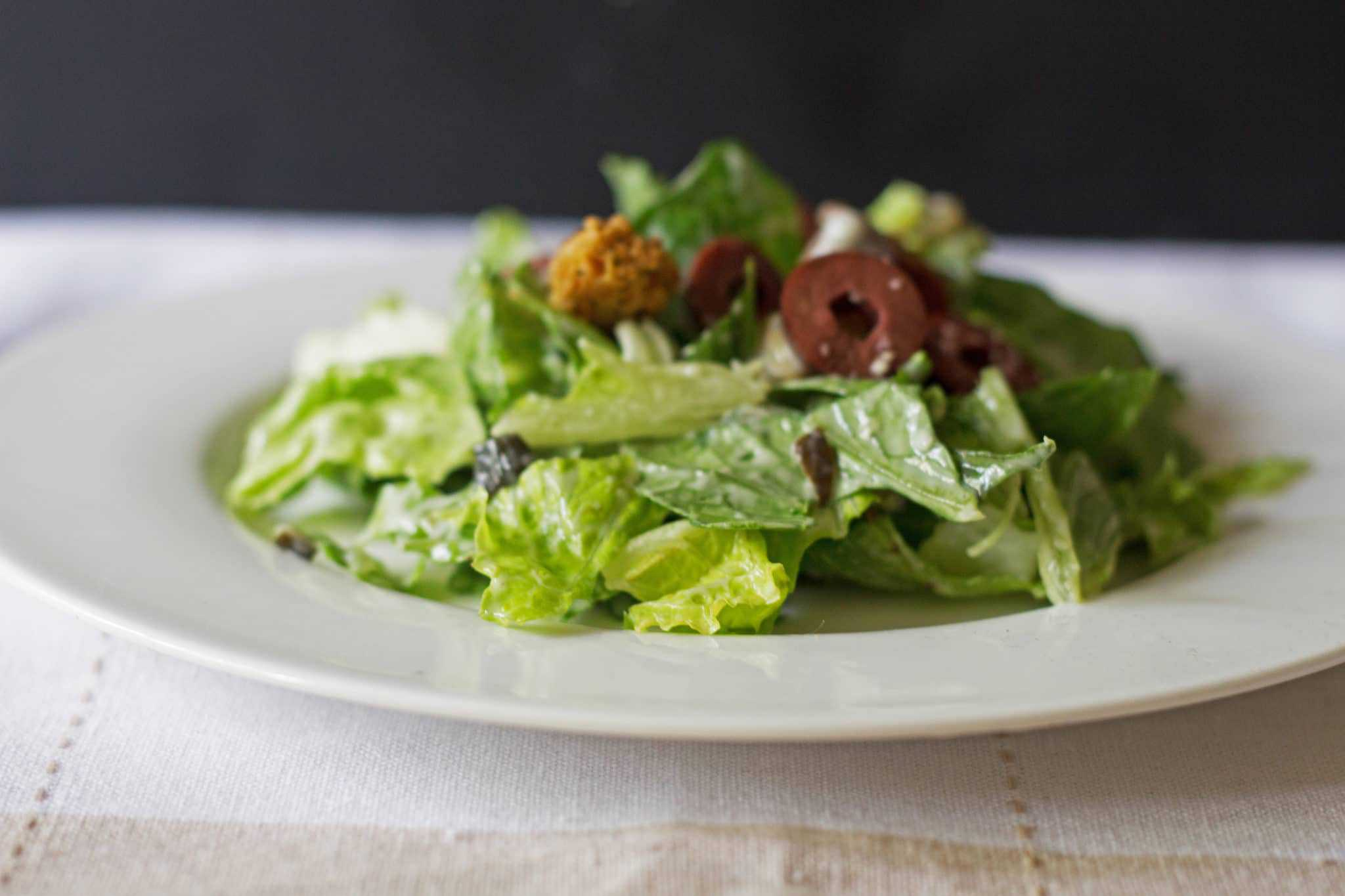 weight watchers caesar salad w/poblano dressing