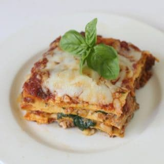 easy one skillet no bake lasagne with melted cheese