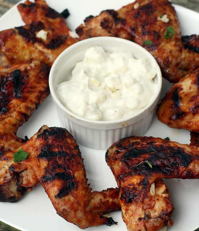 Grilled Spicy Chicken Wings #CookoutWeek