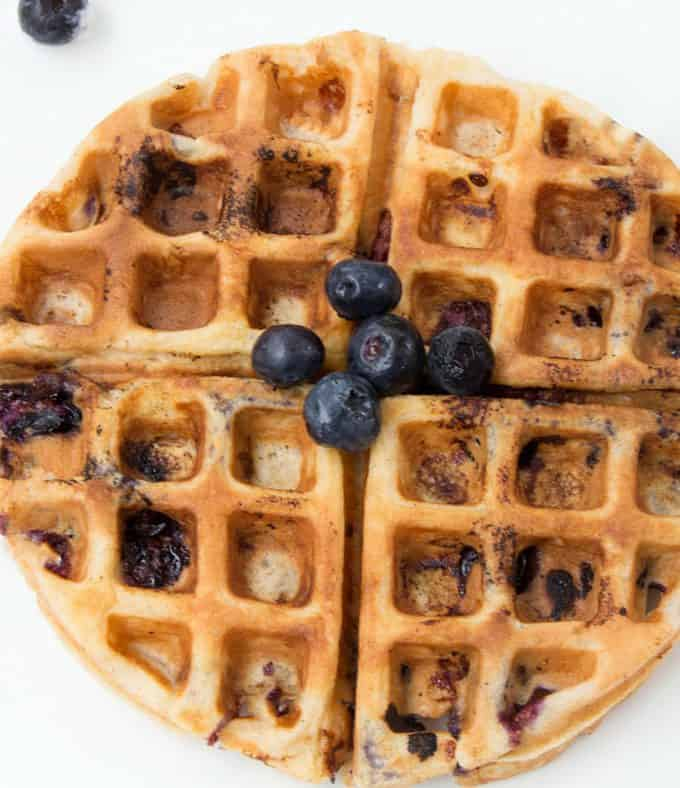 blueberry sour cream waffle
