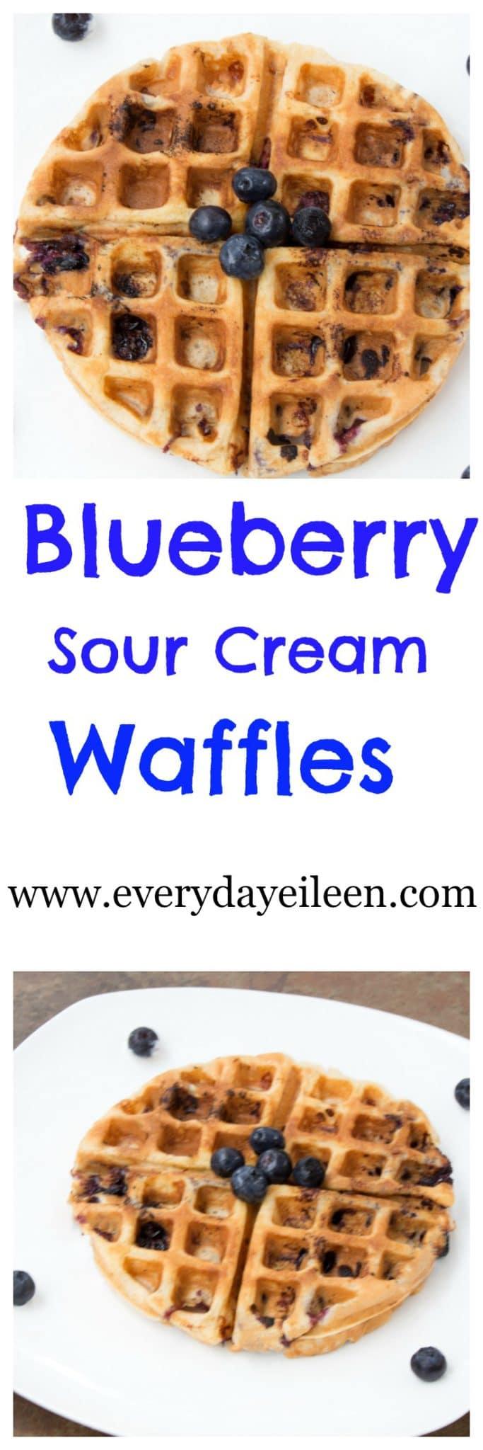 blueberry sour cream waffle