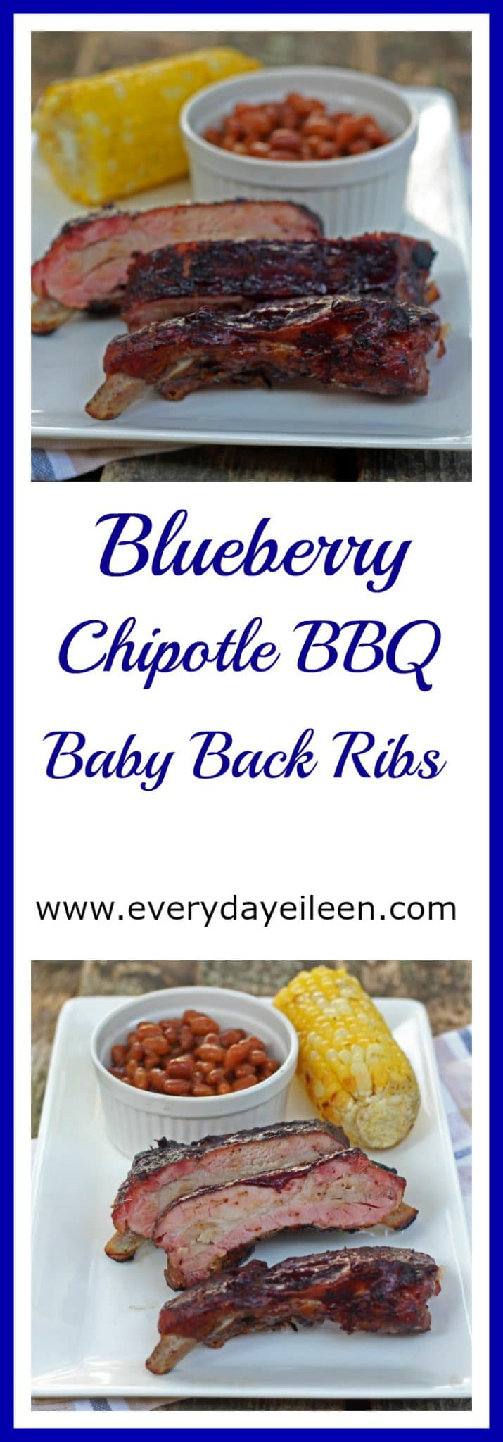 Blueberry Chipotle BBQ Babyback Ribs