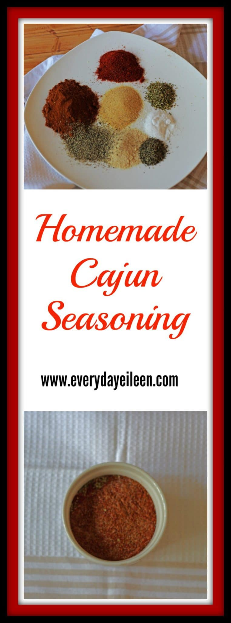 homemade cajun seasonings