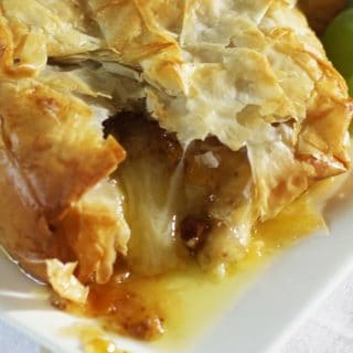 delicious melted brie with fig jam wrapped in phyllo dough l