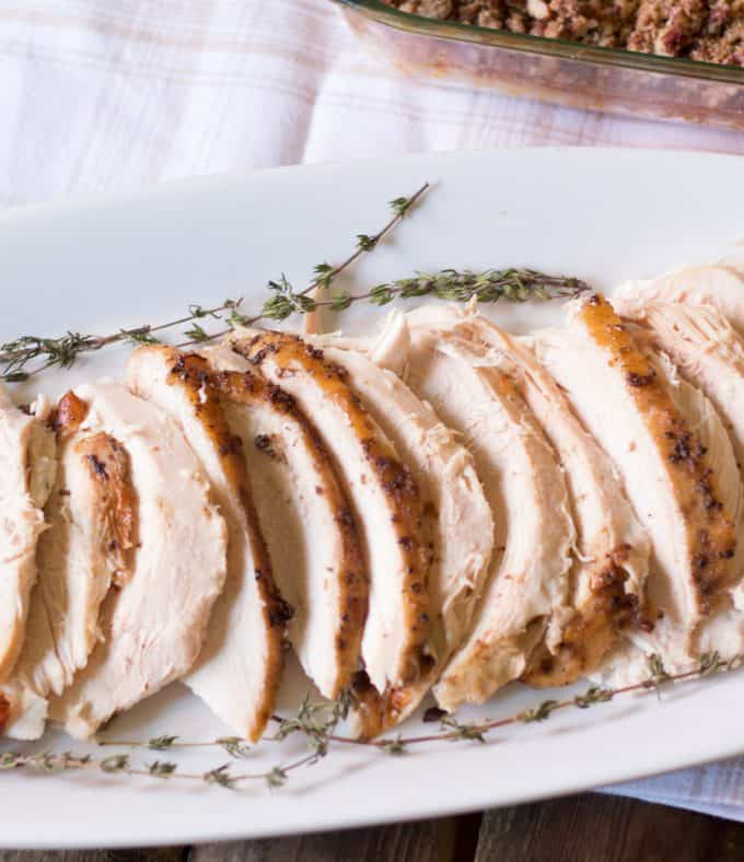 bourbon maple roasted turkey breast