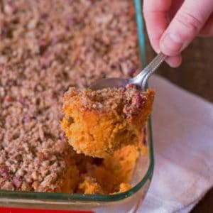 healthy and gluten free sweet potato casserole
