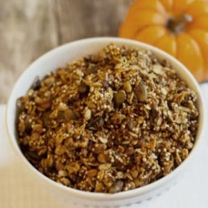 homemade healthy pumpkin granola