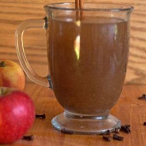 slow cooked apples and spices makes a delicious cider
