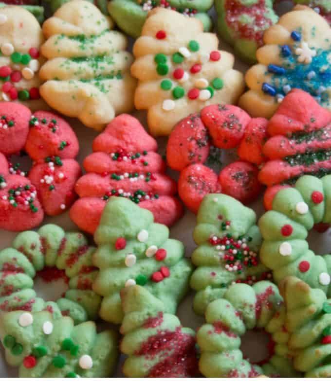 Classic Holiday Spritz Cookies