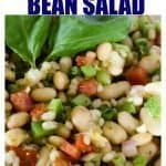 Delicious Tuscan Bean Salad.