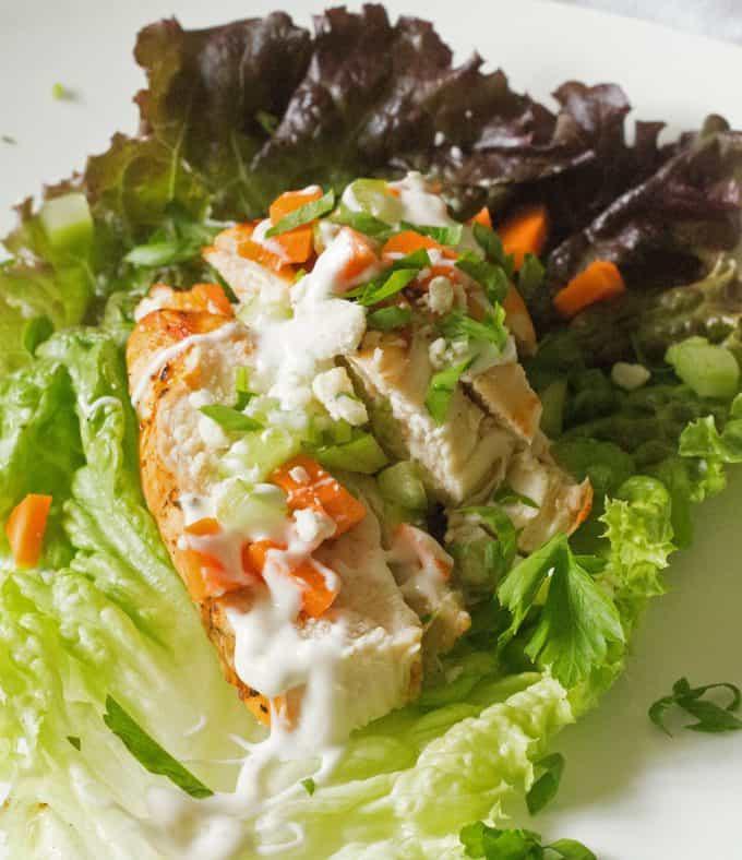 Easy Grilled Buffalo Chicken Lettuce Wraps