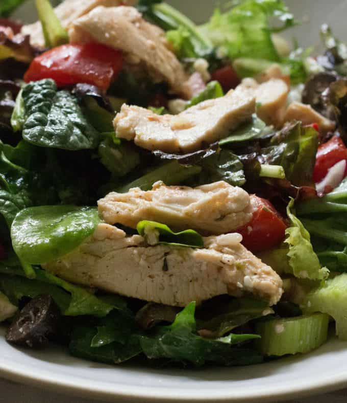 Easy Greek Chicken Salad