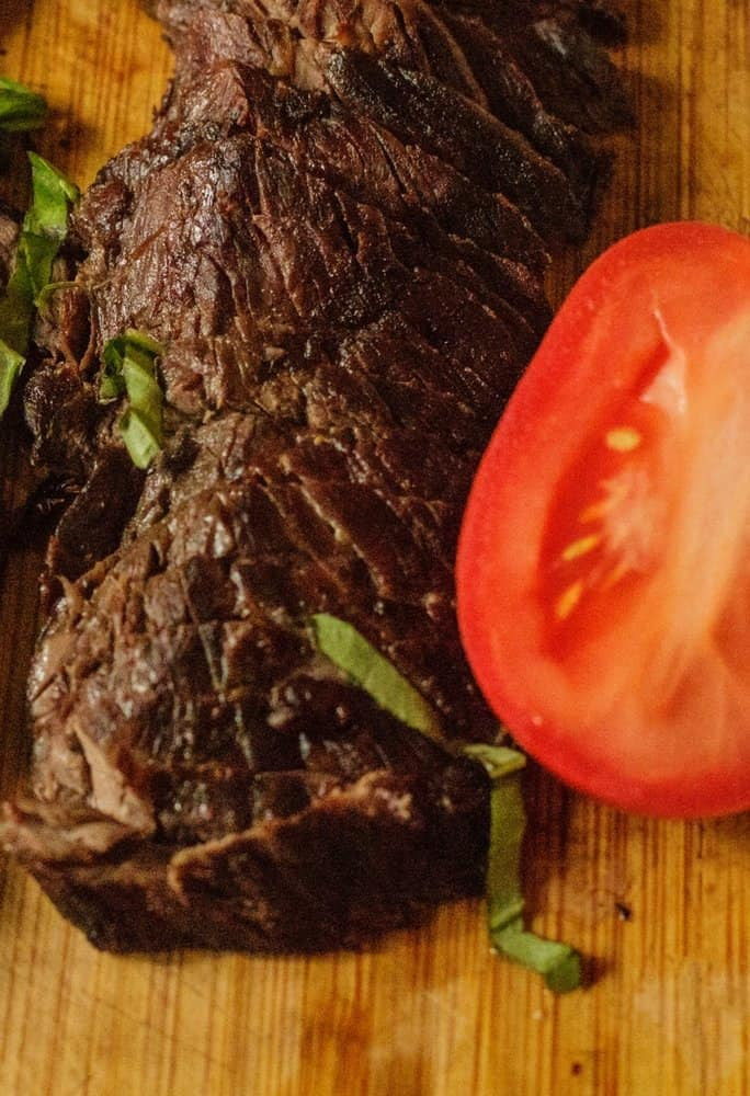 tequila lime marinated hangar steak