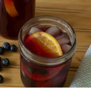 detox blueberry lemon ginger iced tea