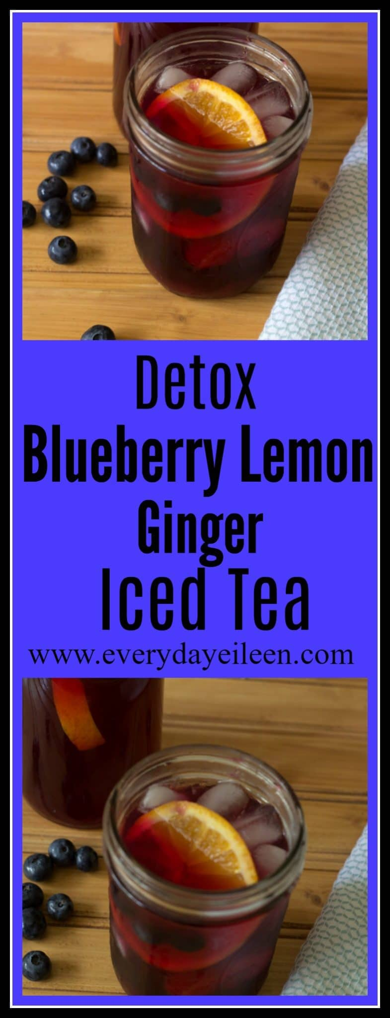 detox blueberry lemon iced tea