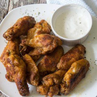 easy crispy baked buffalo chicken wings