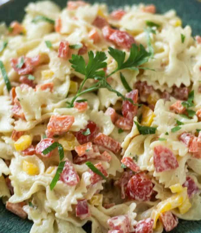 Lighter Homemade Macaroni Salad