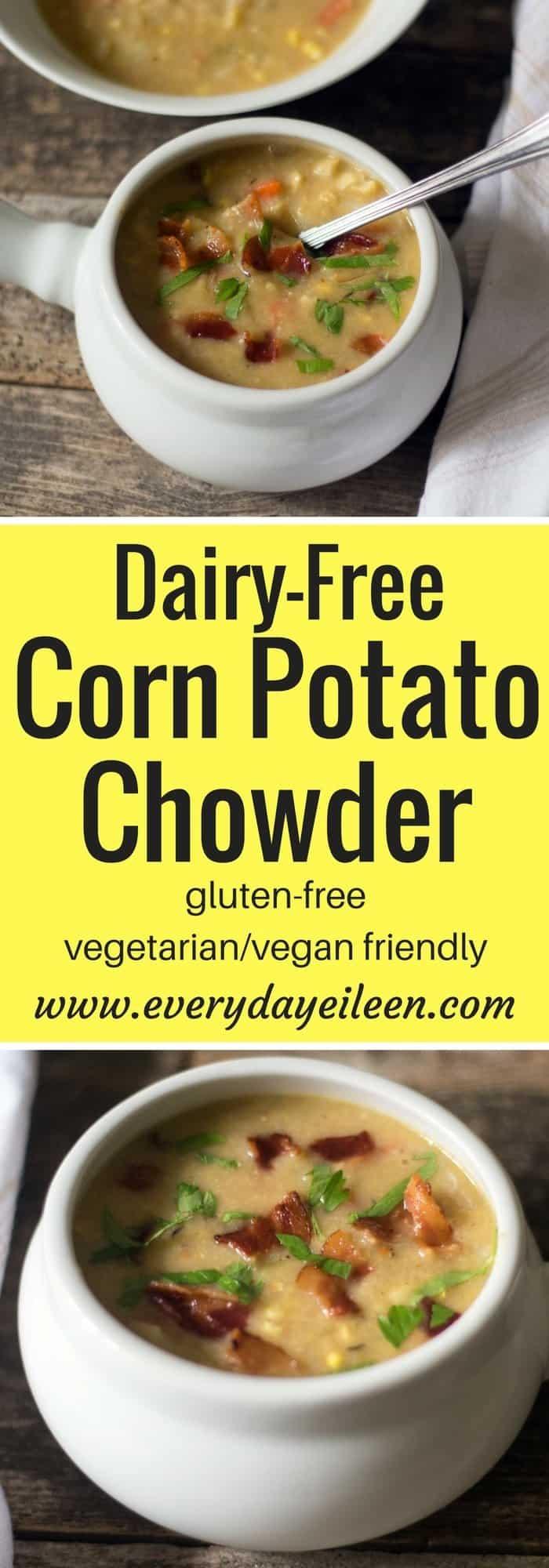 Dairy-Free Corn Potato Chowder