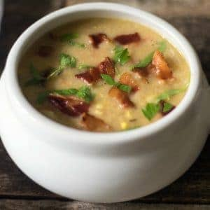 Dairy-free potato corn chowder