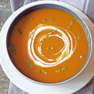 healthy creamless butternut squash sou