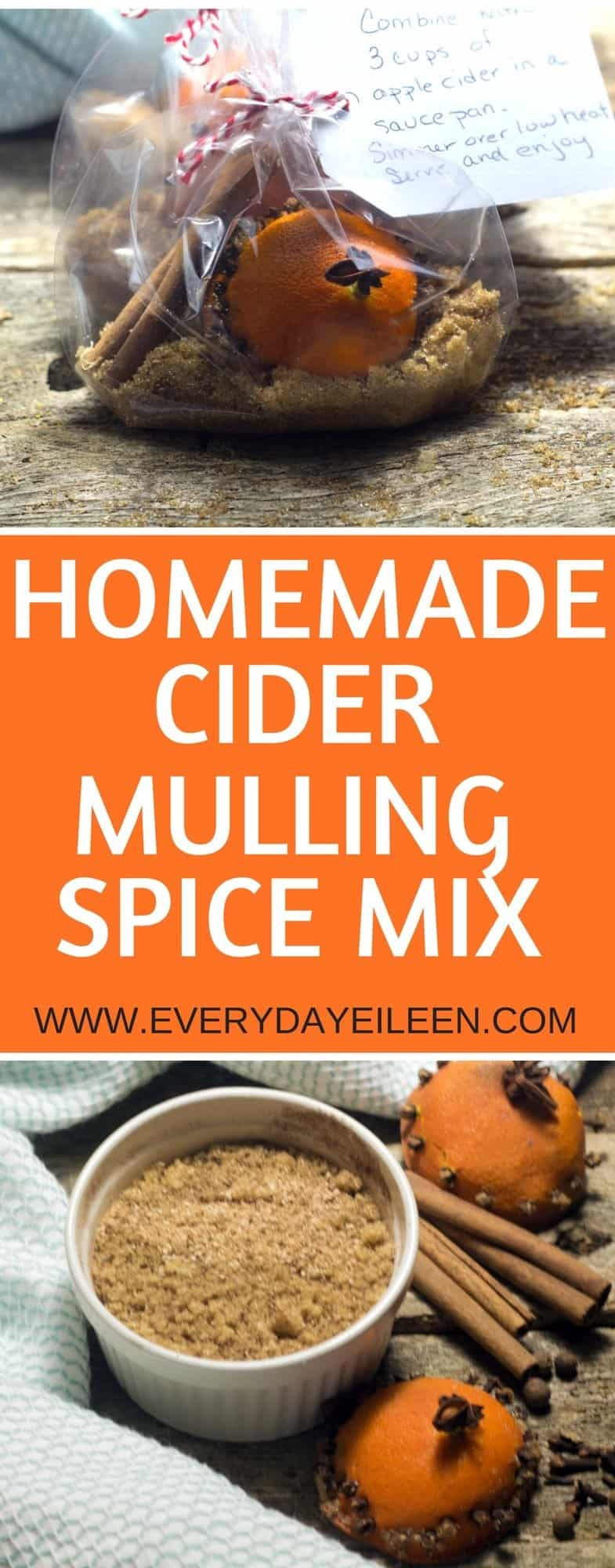 Pin this Homemade Mulling Cider Spice Mix to make later HERE