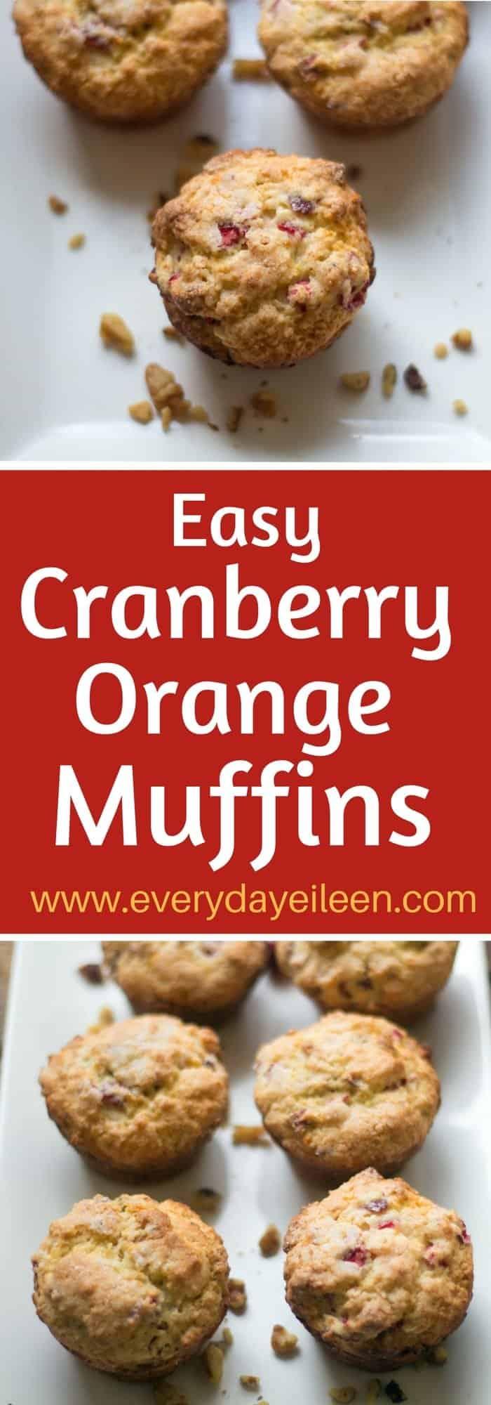 easy cranberry orange muffins