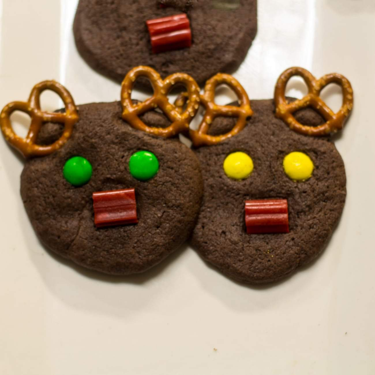 Holiday Chocolate Rudolph Cookies Everyday Eileen