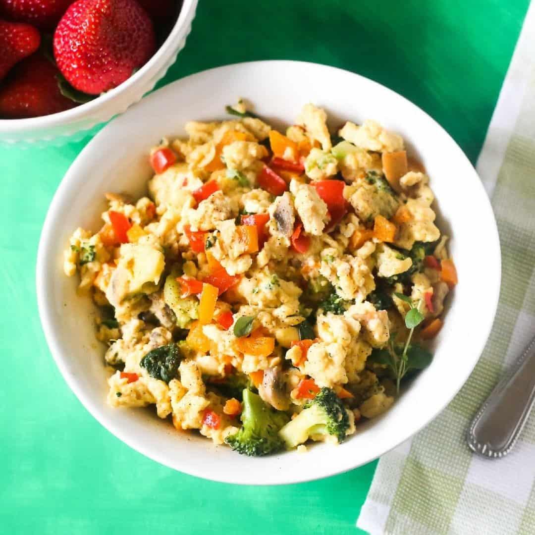 Healthy Veggie Egg Scramble Everyday Eileen