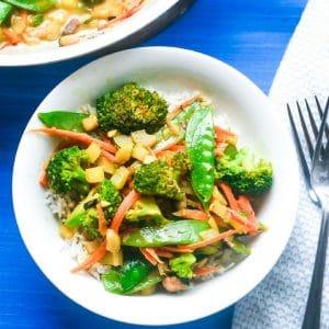 coconutriceandvegetables vegetarianmeal