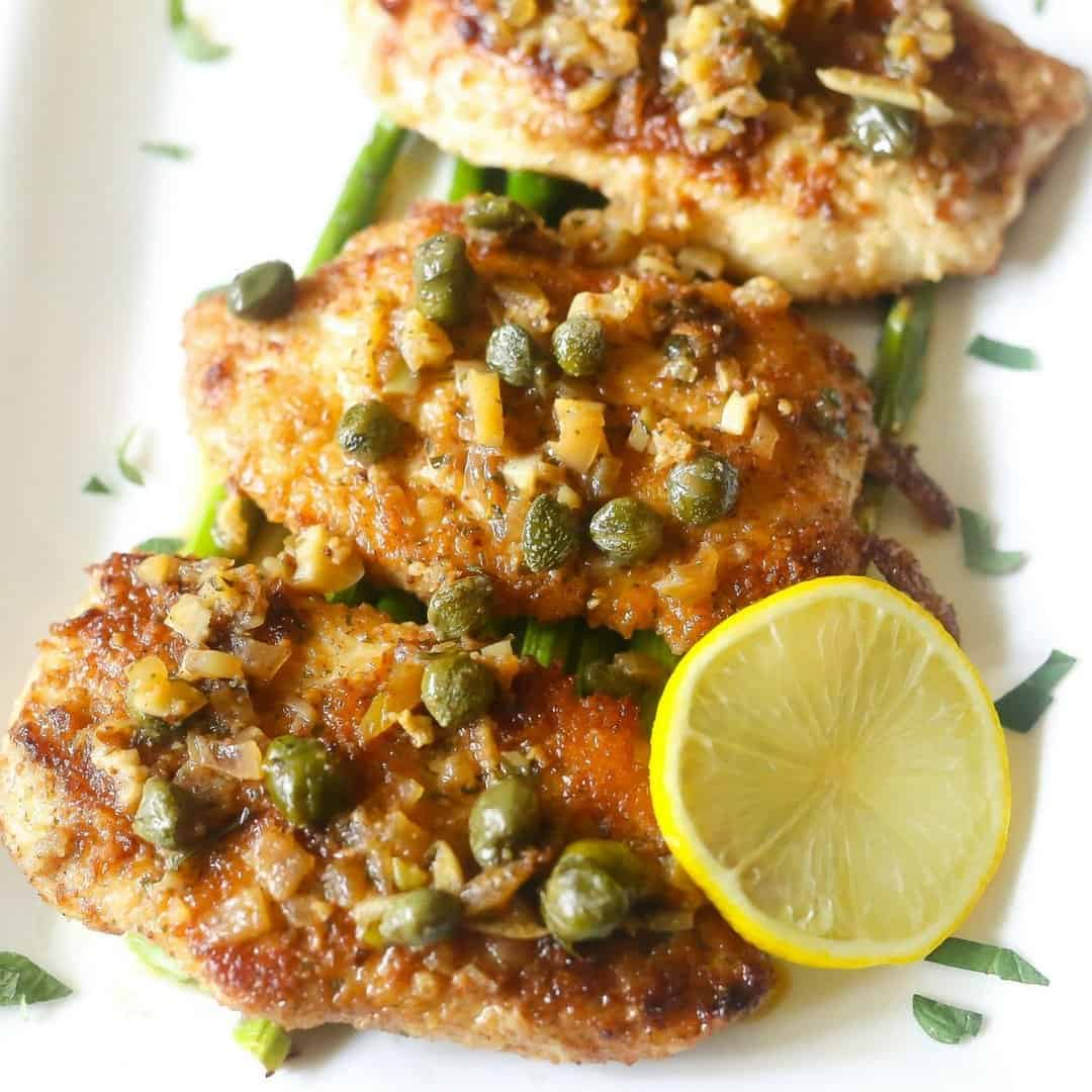 Low Carb Lemon Chicken Piccata Everyday Eileen