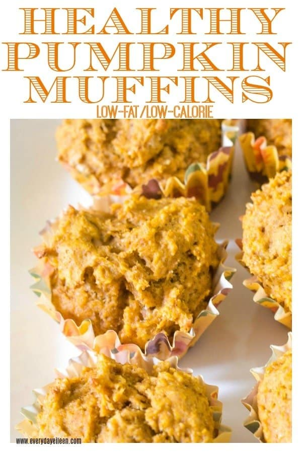 healthy pumpkin muffins on a white dessert platter