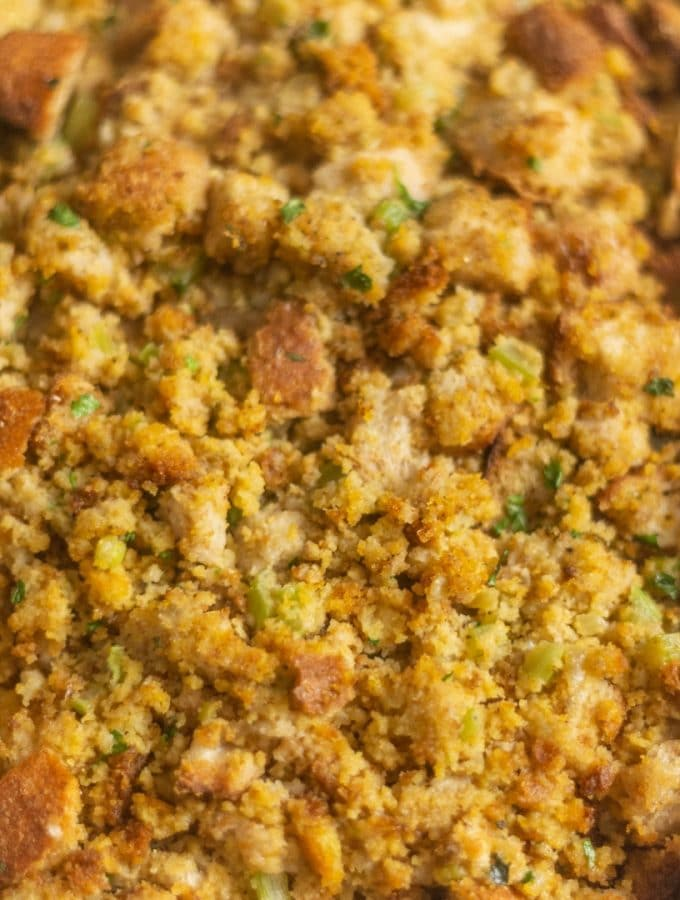 The Best Southern Cornbread Dressing