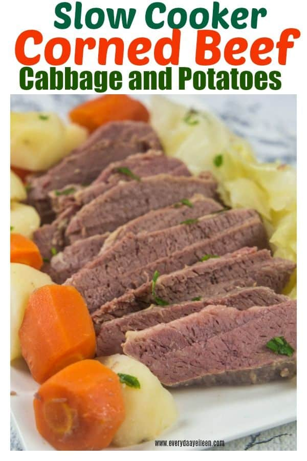 Pinterest pin for corned beef and cabbage!