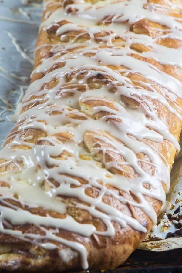 Cream cheese bread braid