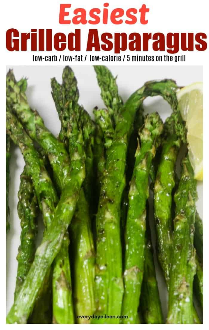Delicious Grilled Asparagus Recipe takes minutes to prepare! Grill for about 4 minutes and you have the most tender and delicious asparagus! via @everydayeileen