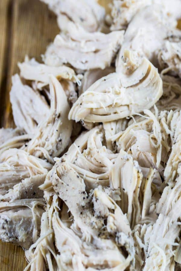 Tender shredded chicken that was made in the Instant Pot!