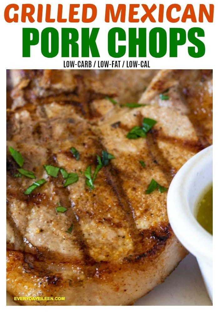 Mexican Pork Chops, a quick and easy meal using just a few ingredient and dinner is ready in about 20 minutes. Use @SmithfieldBrand pork chops from @Walmart for juicy tender pork chops every time! #ad #SimpleNaturalSmithfield #AllNaturalPork #GuaranteedTender #CollectiveBias #mexicanporkchops #porkchops #grilledporkchops via @/everydayeileen/