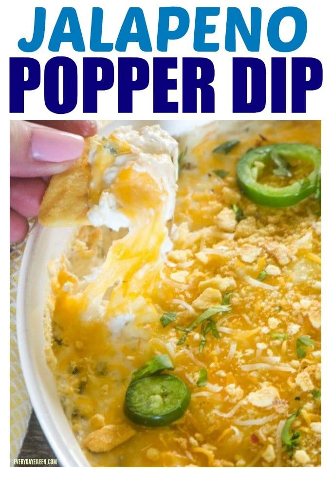 Jalapeno Popper Dip, an easy and delicious dip! Grilled Jalapeno adds an extra level of flavor! Extra crunch from a layer of cornbread crisps over the cheesy goodness! Great for all your parties, Cinco De Mayo, tailgate parties  #ad #cornbreadcrisps #Hamiltoneach #SummerGrilling #jalapenopopperdip #everydayeileen via @/everydayeileen/