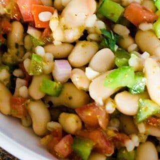 Beans, barley, and veggies make a delicious bean salad