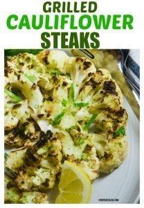 Grilled Cauliflower Steaks on a platter