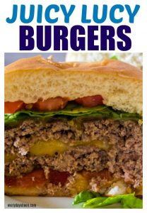 Delicious cheese filled burger in a plate, a juicy lucy!